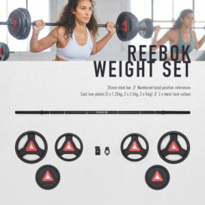 Reebok Weight Set with Pump Bars RSWT-16091